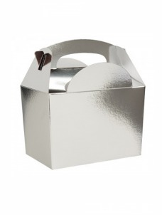 Party box σε ασημί μεταλικό χρώμα