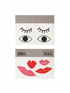 Meri Meri Eyes & Lips Τατουάζ 2τμχ
