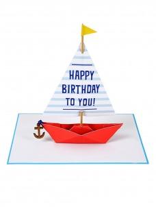 Meri Meri Sailing Boat Ευχετήρια Κάρτα