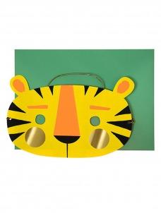 Meri Meri Tiger Mask Ευχετήρια Κάρτα