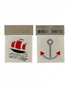 Meri Meri Boat & Anchor Τατουάζ 2τμχ