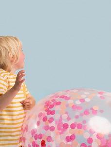 Meri Meri Pink Confetti Γιγάντιο Μπαλόνι 3τμχ
