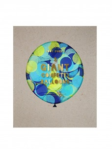 Meri Meri Blue Confetti Γιγάντιο Μπαλόνι 3τμχ