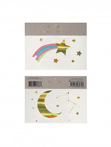 Meri Meri Rainbow Shooting Star Τατουάζ 2τμχ