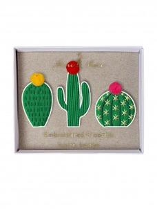 Meri Meri Cacti Καρφίτσες 3τμχ