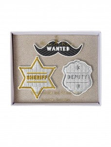 Meri Meri Sheriff Καρφίτσες 3τμχ