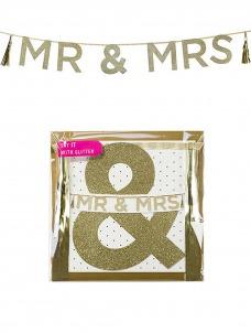 Talking - Γιρλάντα Χρυσή MR AND MRS