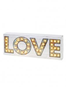 Φωτιζόμενη Πινακίδα Love