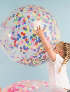 Meri Meri Multi Color Confetti Γιγάντιο Μπαλόνι 3τμχ