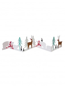 Meri Meri Ευχετήρια Χριστουγεννιάτικη Κάρτα Concertina Πολική Αρκούδα