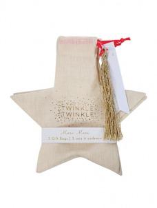 Meri Meri Υφασμάτινη τσάντα δώρου Αστέρι