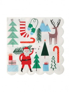 Meri Meri Santa & Reindeer χαρτοπετσέτα