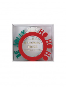 Meri Meri Δαχτυλίδι Πετσέτας Be Jolly Joy και Ho ho ho