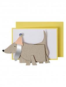 Meri Meri Ευχετήρια Κάρτα Σκυλάκι Λουκάνικο