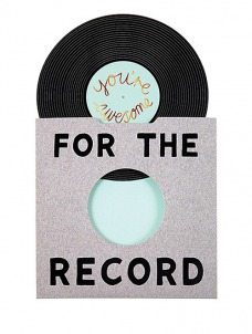 Meri Meri For the Record Ευχετήρια Κάρτα