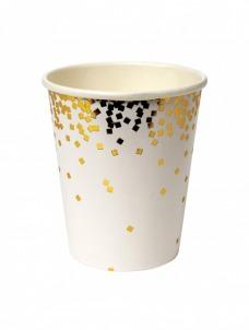 Meri Meri Ποτήρια Χάρτινα Gold Confetti