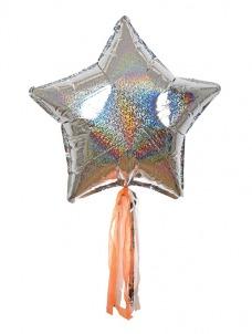 Meri Meri Ασημί Αστέρια Balloon Kit