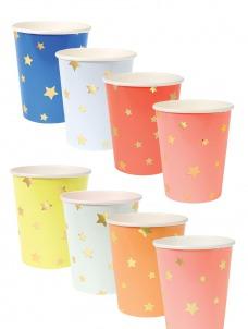 Meri Meri Ποτήρια Αστέρια διάφορα χρώματα