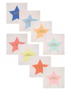 Meri Meri Χαρτοπετσέτες Αστέρια διάφορα χρώματα