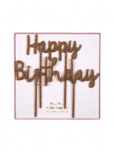 Meri Meri Διακοσμητικό Τούρτας Happy Birthday