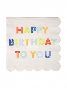 Meri Meri Χαρτοπετσέτες Happy Birthday To You