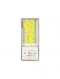 Meri Meri Κεράκι Νο 1 Κίτρινο