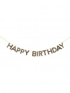 Meri Meri Γιρλάντα Χρυσή Happy Birthday