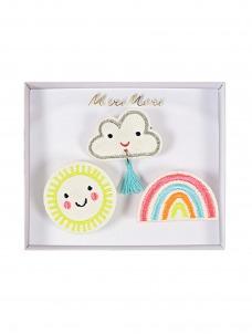 Meri Meri Καρφίτσες Συννεφάκι, Ήλιος & Ουράνιο Τόξο
