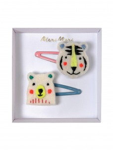 Meri Meri Κλιπ Μαλλιών Αρκούδα & Τίγρης