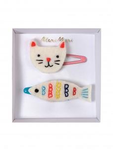 Meri Meri Κλιπ Μαλλιών Γάτα & Ψάρι