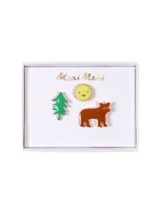 Meri Meri Καρφίτσες Bear, Sun & Tree