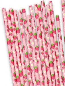 Χάρτινα καλαμάκια Φράουλες