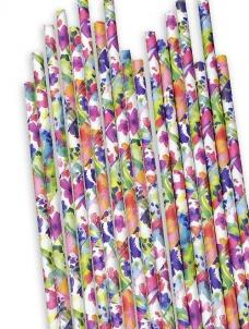 Χάρτινα καλαμάκια Λουλούδια