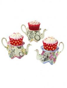 Talking Cupcake Teapot Stands