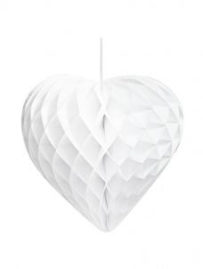 Talking Διακοσμητικές Καρδιές Honeycomb Λευκές