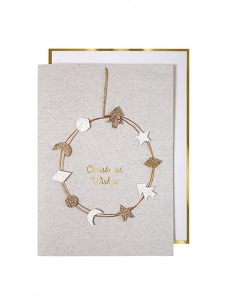 Meri Meri Ευχετήρια Κάρτα Sparkly Wreath