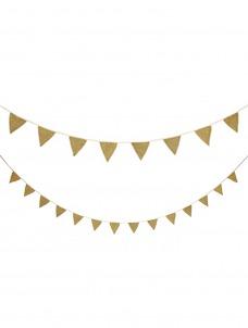 Meri Meri Γιρλάντα Χρυσά Υφασμάτινα Σημαιάκια