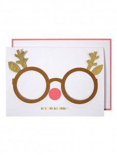 Meri Meri Ευχετήρια Κάρτα Reindeer Glasses