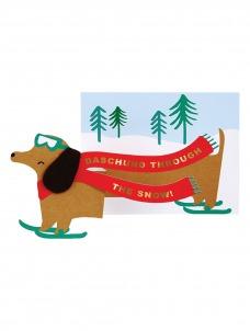 Meri Meri Dachshund Χριστουγεννιάτικη Ευχετήρια Κάρτα
