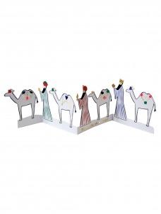 Meri Meri Χριστουγεννιάτικη ευχετήρια Κάρτα Οι Τρεις Μάγοι