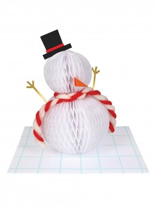 Meri Meri Ευχετήρια Κάρτα Honeycomb Snowman