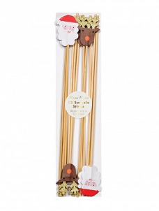 Meri Meri Sticks Ανάδευσης Ποτών Santa & Reindeer