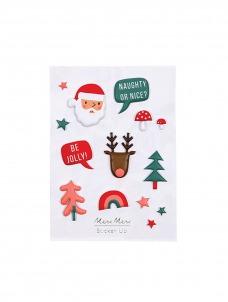 Meri Meri Αυτοκόλλητα Φουσκωτά Christmas Party