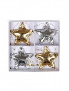 Meri Meri Χριστουγεννιάτικα Στολίδια Αστέρια Ασημί-Χρυσό