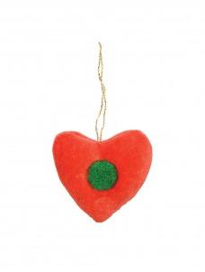 Meri Meri Βελούδινο Διακοσμητικό Δέντρου Καρδιά