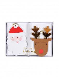 Meri Meri Καρτελάκια Δώρων Santa & Reindeer