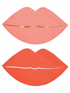 Meri Meri Χαρτοπετσέτα Pink Lips
