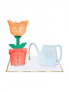 Meri Meri Ευχετήρια Κάρτα Γλάστρα με Ποτιστήρι