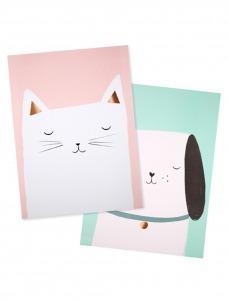 Meri Meri Αφίσα Γάτα & Σκύλος