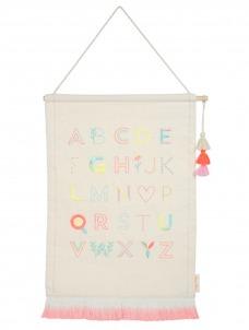 Meri Meri Κρεμαστό Διακοσμητικό Τοίχου ροζ Γράμματα